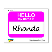 Rhonda Hello My Name Is Sticker