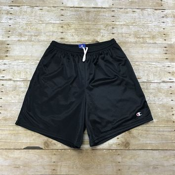 Vintage 90s Champion Sportswear Black Gym Shorts Mens Size Medium