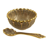 Taupe Palais Bowl with Spoon