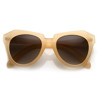 Womens Oversize Fashion Geometric Opaque Sunglasses 8701