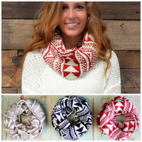 Pine Haven Knitted Infinity Scarves