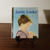 "Vintage 1973 Book ""Jamie Looks"" - A little Golden Book / Kids Book / Great Condition / A Book About Learning"