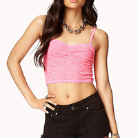 FOREVER 21 Lace Bustier Hot Pink