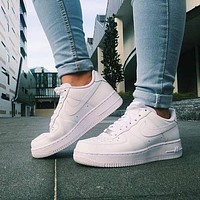 NIKE AIR FORCE 1 fashion classic men and women all-match casual white shoes sports shoes