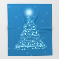Holiday Tree Throw Blanket by All Is One