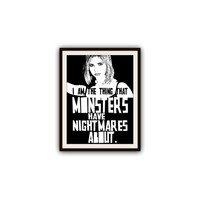 Buffy the Vampire Slayer Quotes Typography Print Poster