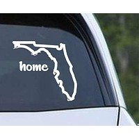 Florida State Outline Home FL - USA America Die Cut Vinyl Decal Sticker