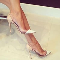 Transparent Sexy Stilletto High Heels
