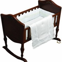 Baby Doll Bedding Royal Classic Cradle Bedding Set, White