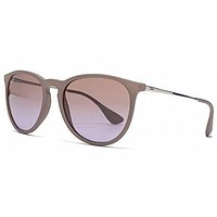 Ray Ban Erika Sunglasses Brown Silver (Sands) with Brown Gradient lens RB 4171 600068