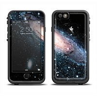 The Swirling Glowing Starry Galaxy Apple iPhone 6 LifeProof Fre Case Skin Set
