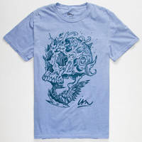 Imperial Motion Surf Skull Color Changing Mens T-Shirt Blue  In Sizes