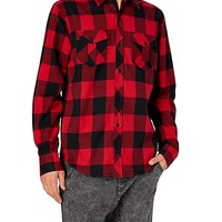 Red/Black Buffalo Flannel Top
