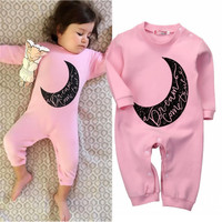 2016 New Arrival Autumn Clothes Newborn Kids Baby Girls Infant Long Sleeve Romper Jumpsuit Outfits Clothes 0-24M