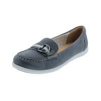 Naturalizer Womens Japara Leather Belted Loafers