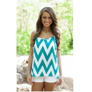 Chevron striped casual shirts