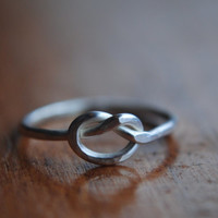 Tiny Sterling Silver Knot Ring