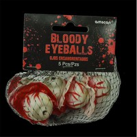 5pcs/set Hot Sale Halloween Bloody Eyeballs Prop Severed Torn Out Fake Eye Ball Decoration Horror Blood Prop Novelty A30