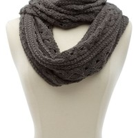 Cable Open Knit Infinity Scarf