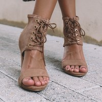 All Along Lace Up Heels