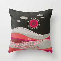 Textile landscape V Throw Pillow by Viviana González