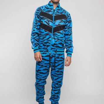 Reflective Tape Tiger Stripe Tracksuit