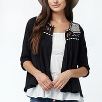 Rip Curl Fantasty Embroidered Open Front Shirt - Womens Shirts