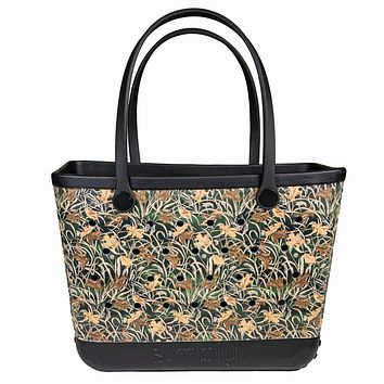 Simply Southern Large Camo Beach Waterproof Washable Tote Bag