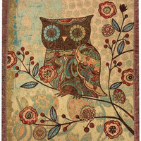 Milo Collection Owls I Afghan Throw Blanket