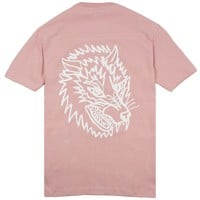 Wolf Football Top - Muted Pink