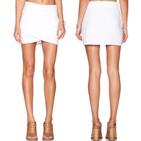 Summer Brand Designer White Sex Casual Skirt Women Ladie Skirt Irregular design Skirts *10
