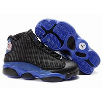 Nike Jordan Kids Air Jordan 13 Retro Black/Royal Blue Color Kids Sneaker Shoe US 11C - 3Y
