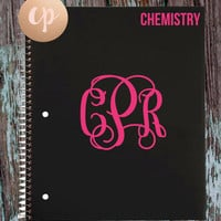 BACK-TO-SCHOOL Monogram Vinyl Decals for Notebooks, Folders, Cups, Cars and Laptops!