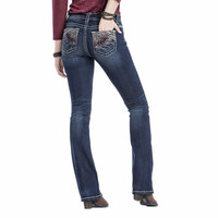 """Miss Me Womens Foxy Feather 34"""" Inseam Mid Rise Boot Cut Jeans"""