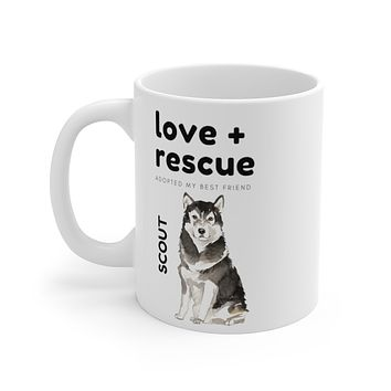 love + rescue Mug — Malamute