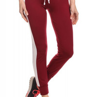 Copy of JOGGER W/ SIDE PANELS & TIE IN BURGUNDY