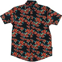 Grizzly Tropical High Button Up Tee Xl Black
