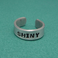 Firefly/Serenity Inspired - Shiny Hand Stamped Adjustable Aluminum Ring