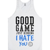 Good game just kidding volleyball tank top tee t shirt-White Tank