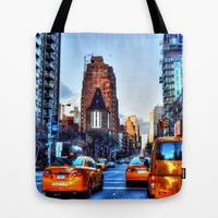 Downtown New York Tote Bag by Haroulita | Society6