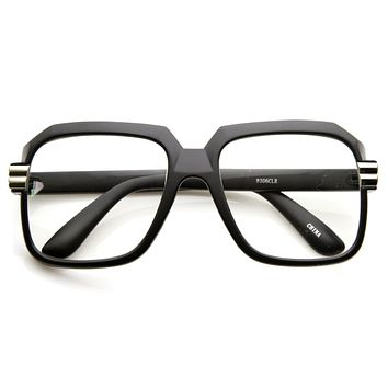 Old School Hip Hop Style Square Vintage Glasses 2981