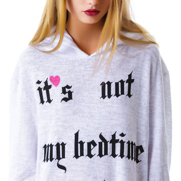 Wildfox Couture Not My Bedtime Yet Gypsy Hoodie Clean White