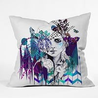 Holly Sharpe Tribal Girl Colourway Throw Pillow