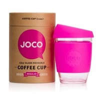 Joco Cup Reusable Glass Coffee Cup - Pink