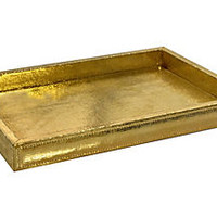 Aurora Snakeskin Tray, GoldMIKE AND ALLY
