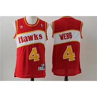 Atlanta Hawks 4 Webb Retro Basketball Swingman Jersey