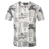 Burberry  Printed round neck half sleeve T-shirt