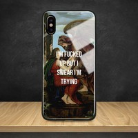 Aesthetics famous quotes painting Tempered Glass Soft Silicone Phone Case Shell Cover For Apple iPhone 6 6s 7 8 Plus X XR XS MAX