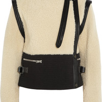 Chloé - Shearling and wool-blend jacket