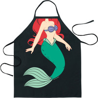 Little Mermaid Ariel Character Apron Black